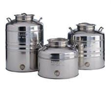 Традиционная бочка с краном на 25 литров из нержавеющей стали Sansone
