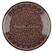 Ляган Риштанская Керамика 42 см. плоский, коричневый