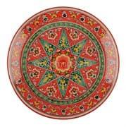 Ляган Риштанская Керамика 32 см. плоский, Qora galam